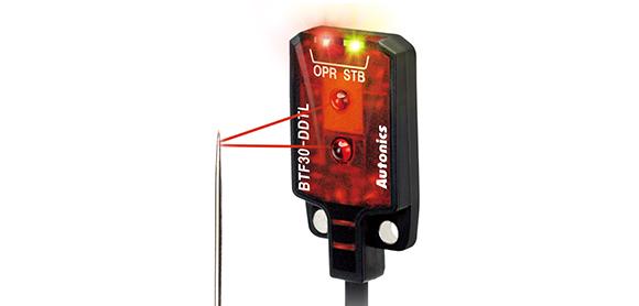 Mendeteksi target kecil hingga Ø 0.2 mm