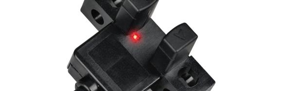 Pemeriksaan Indikator operasi LED merah yang mudah